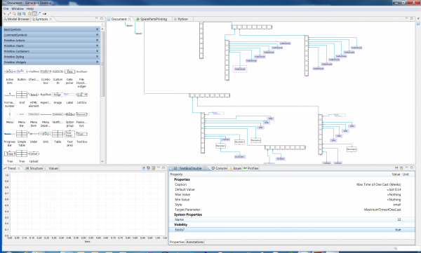Picture of Modelling Factory Design Desktop used to create web user interfaces of published models